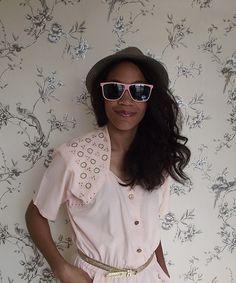 Baby Pink Vintage Sunglasses  1980s by edenfound