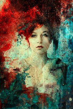 By *kokoszkaa on deviant ART... red & turquoise is such an amazing combo... stunning!
