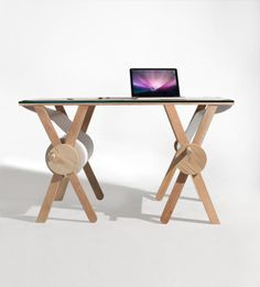 Cool desk for students or home office - when you want to write notes or scribble . #woodworking blueprint creativecommons share from Kirsten Camara  http://kcamara.com/filter/furniture/ANALOG-MEMORY-DESK #woodworking #furnituredesign