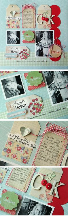 adding dimension | #papercraft #scrapbook #layout #tags