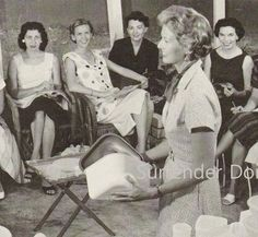 Tupperware Lady's Home Party Studio Photo Illustration 1950s Black and White Classic Print