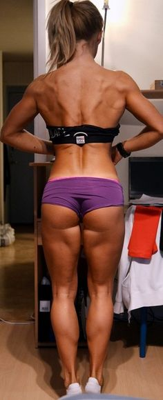 Sorry for this pic showing a lot of bottom - I don't think it is  un-tasteful in showing the results of hard work put in. I would like to get my legs and glutes like this