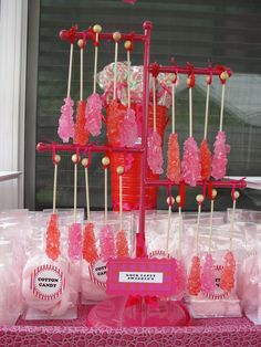rock candy stand