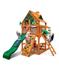 Love this Chateau Tower Treehouse Amber Posts Playset on #zulily! #zulilyfinds