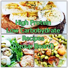 High protein low carbohydrate recipes board cover #lowcarb #highprotein