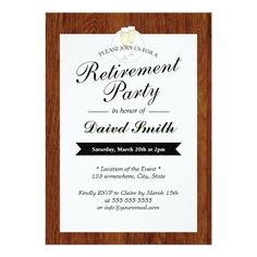 cheers retirement party invitation