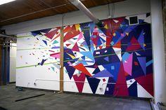 Geometric Movement Mural