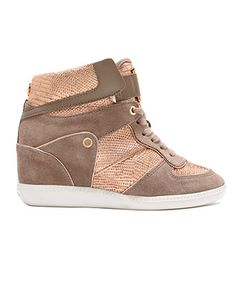 1b092b7f7b5 Get your kicks MICHAEL KORS wedge sneakers. Got to have them.