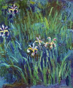 Claude Monet - Irises 1914-1917 - Fine Art Print