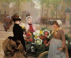 schryver_louis_marie_de_the_flower_seller_1886.jpg (930×768)
