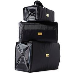 Amazon.com   Joy Mangano Biggest   Best Better Beauty Case Set Ever! -  Black   Makeup Travel Cases And Holders   Beauty 1e9f64a8c3b