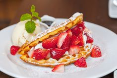 Treat your Valentine to brunch with this easy Strawberry Waffle recipe: http://bit.ly/1McEwrQ (bonus points for you!)