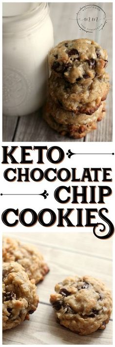 This Keto Chocolate Chip Cookies Recipe will satisfy your sweet tooth without go. CLICK Image for full details This Keto Chocolate Chip Cookies Recipe will satisfy your sweet tooth without going over your macros! Chocolate Chip Cookies Rezept, Keto Chocolate Chip Cookie Recipe, Keto Chocolate Chips, Cookie Recipes, Lindt Chocolate, Chocolate Recipes, Chocolate Smoothies, Chocolate Mouse, Chocolate Meringue