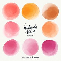 Watercolor stain collection Free Vector | Free Vector #Freepik #freevector #watercolor #water #texture #hand Watercolor Circles, Watercolor Galaxy, Watercolor Wallpaper, Pastel Watercolor, Watercolor Logo, Watercolor Texture, Watercolor Design, Watercolor Water, Pastel Background