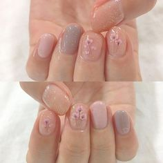Do you like nail art? Do you want to have beautiful nails but don't know how to choose? Yes, there are many types of nails. Cute Nails, Pretty Nails, My Nails, Nails At Home, Minimalist Nails, Soft Nails, Simple Nails, Nail Swag, Flower Nail Designs