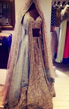 Beautiful Gold sequins embellished lehenga