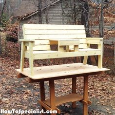 Double Chair Bench Plans | HowToSpecialist - How to Build, Step by Step DIY Plans