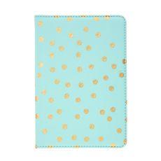 Mint & Gold Polka Dot Tablet Case - iPad Mini