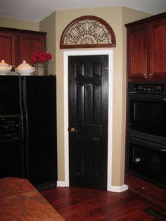 black doors white trim - Google Search