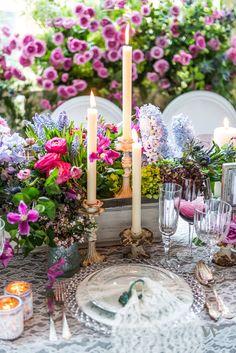vintage wedding decor - taper candles