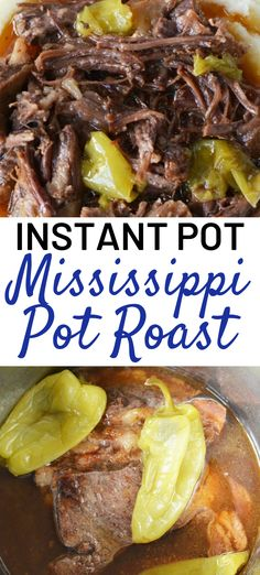 Mississippi Pot Roast - Instant Pot An easy Mississippi pot roast recipe for your pressure cooker. The same fall-apart roast but made quicker than a slowcooker. So tender and flavorful, this is a winner! Pressure Cooker Roast, Pressure Cooker Chicken, Instant Pot Pressure Cooker, Pressure Cooker Recipes, Pressure Cooking, Pressure Cooker London Broil, Pot Roast Recipes, Crockpot Recipes, Cooking Recipes