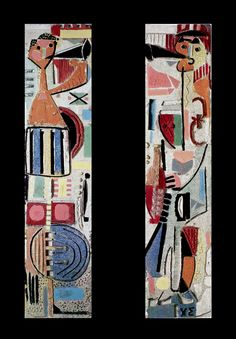 Pipers I and II - Christoforos Savva 1964 Painters, Gallery, Artist, Cards, Roof Rack, Artists, Maps, Playing Cards