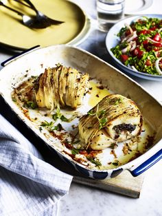 Try something deliciously unique this Valentine's Day in this superb recipe which finds cod wrapped in the tasty grasp of spiralised potatoes - flavoursome, inventive and classy. Cod Recipes, Herb Recipes, Potato Recipes, Healthy Recipes, Drink Recipes, Breaded Cod, Cookery Books, Fish Dishes, Potato Dishes