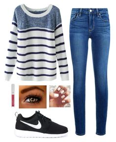 """""""Untitled #47"""" by emmamargsmart ❤ liked on Polyvore featuring Paige Denim and NIKE"""