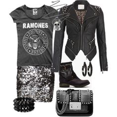 Punk rock glam #amplified // I would TOTALLY wear this to an event if I was a celeb...minus the bag though