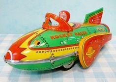 Blikken speelgoed Raket - Rocket Racer Tin Toy