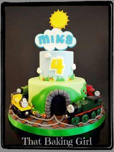 Pita1280 Cakes For Boys, Boy Cakes, Train Cakes, Thomas The Train, Cake Pics, Birthday Cake, Pretty Cakes, Baking, Trains