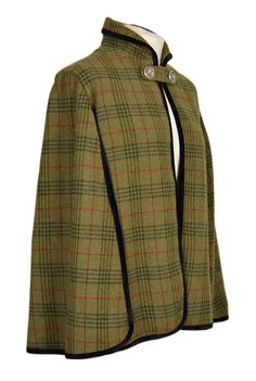 The Vintage Tweed Cape (Lochay Tweed) – Great Scot (Scotland) Ltd Plaid Fashion, Retro Fashion, Vintage Fashion, Petite Fashion, Curvy Fashion, Fall Fashion, Style Fashion, Tweed Run, Tweed Coat