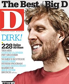 """Dirk Nowitzki- I can't see his picture without hearing him singing """"We Are the Champions"""". :)"""