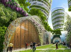 Futuristic Paris Smart City