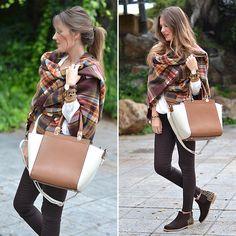 Helena Cueva - Zara Scarf, Neon Boots Booties, Zara Pants, Stradivarius Blouse, Parfois Handbag - My New Boots