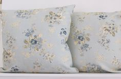 DECORATIVE PILLOWS two  Shabby Chic Blue Floral by AlexanderBenton, $40.00