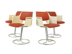 Model 2245 Dining Chairs by A.R Cordemijer for Gispen, 1970s, Set of 4