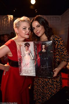 Once Upon A Time- The beautiful Ginnifer Goodwin and Lana Parrilla at Disney's D23 Expo in Anaheim - I want these dolls!