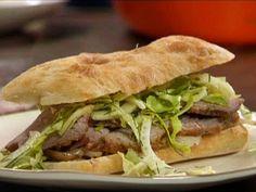 Roast Pork Shoulder Sandwiches with Fennel Slaw from FoodNetwork.com