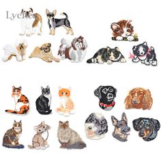 Lychee Cute Cat Dog French Bulldog Iron On Embroidered Patch Sew On Embroidery Patches Applique Garment Clothes DIY Accessory-in Patches from Home & Garden on Aliexpress.com   Alibaba Group