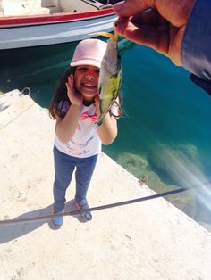 My doughter's first fish