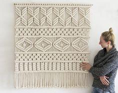Extra grande Macrame Macrame colgante / moderna de la pared / pared arte Boho pared colgante / tapicería de la pared / Macrame tapiz