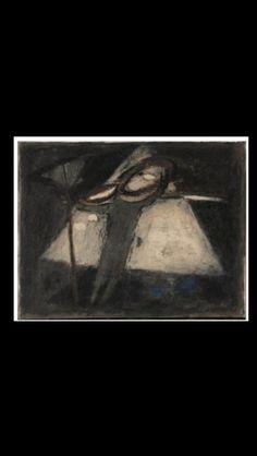 "Jaap Nanninga - "" Icarus (Witte Driehoek) "" - Oil on canvas - 40 x 50,5 cm"
