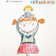 Yay! It is #fritzifollowfriday!  Today I want to introduce you to @einekleinewelt  The girl behind the name is Franzi. She studies architecture in Austria but wants to become a children's book illustrator. And I think with this cute crayon style she is totally on the right way. This girl with her doll made me stop scrolling through my feed and made me smile. That's what you want to achieve with your posts on Instagram  - - - - - - - So hop over to  @einekleinewelt @einekleinewelt…