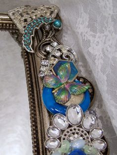 Embellished Mirror  Dressing Table Mirror by theresamariejewelry, $75.00