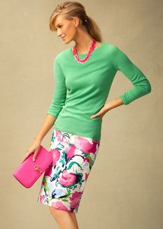 Talbots Spring 2013 – Outfits Part 2 Work Fashion, Modest Fashion, Fashion Outfits, Womens Fashion, Runway Fashion, Fashion Jewelry, Fashion Trends, Urban Apparel, Spring Summer Fashion