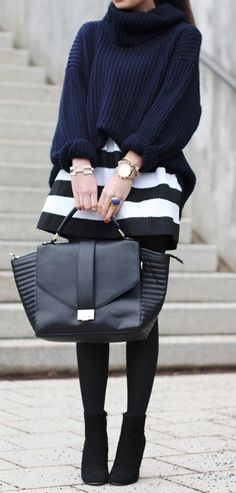 slouchy sweater + skirt