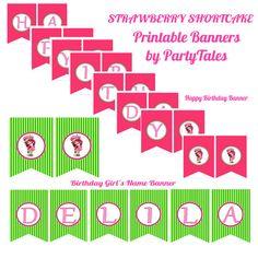 Strawberry Shortcake Girl Printable party 2 by ShopPartyTales