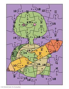 Addition Puzzle for Addend 9 ~Common Core Aligned!