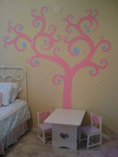 This Is A Tree I Painted On The Wall.